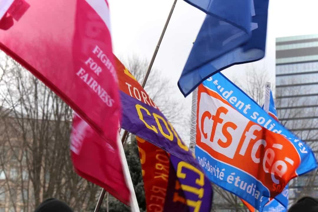 CFS flag. SHANNA HUNTER/THE VARSITY