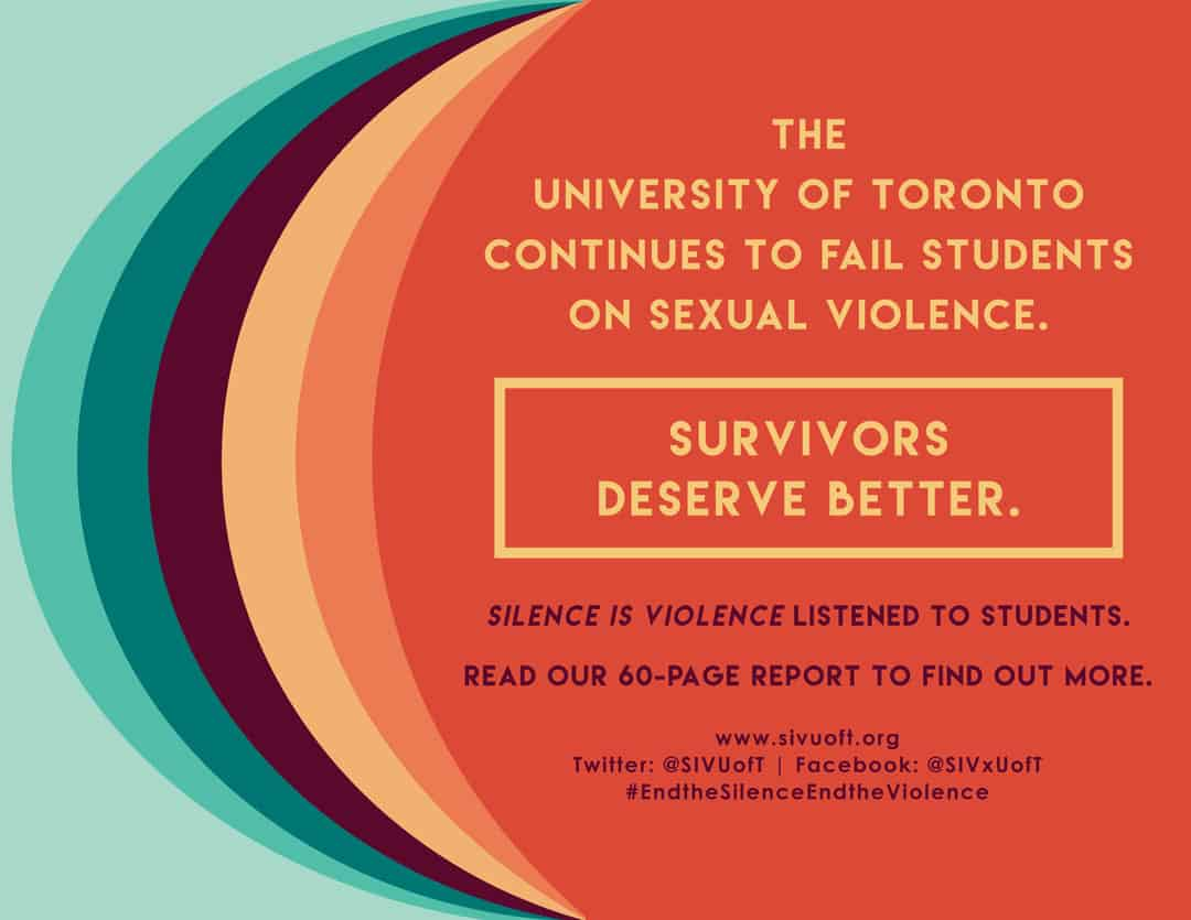 IMAGE COURTESY OF SILENCE IS VIOLENCE U OF T