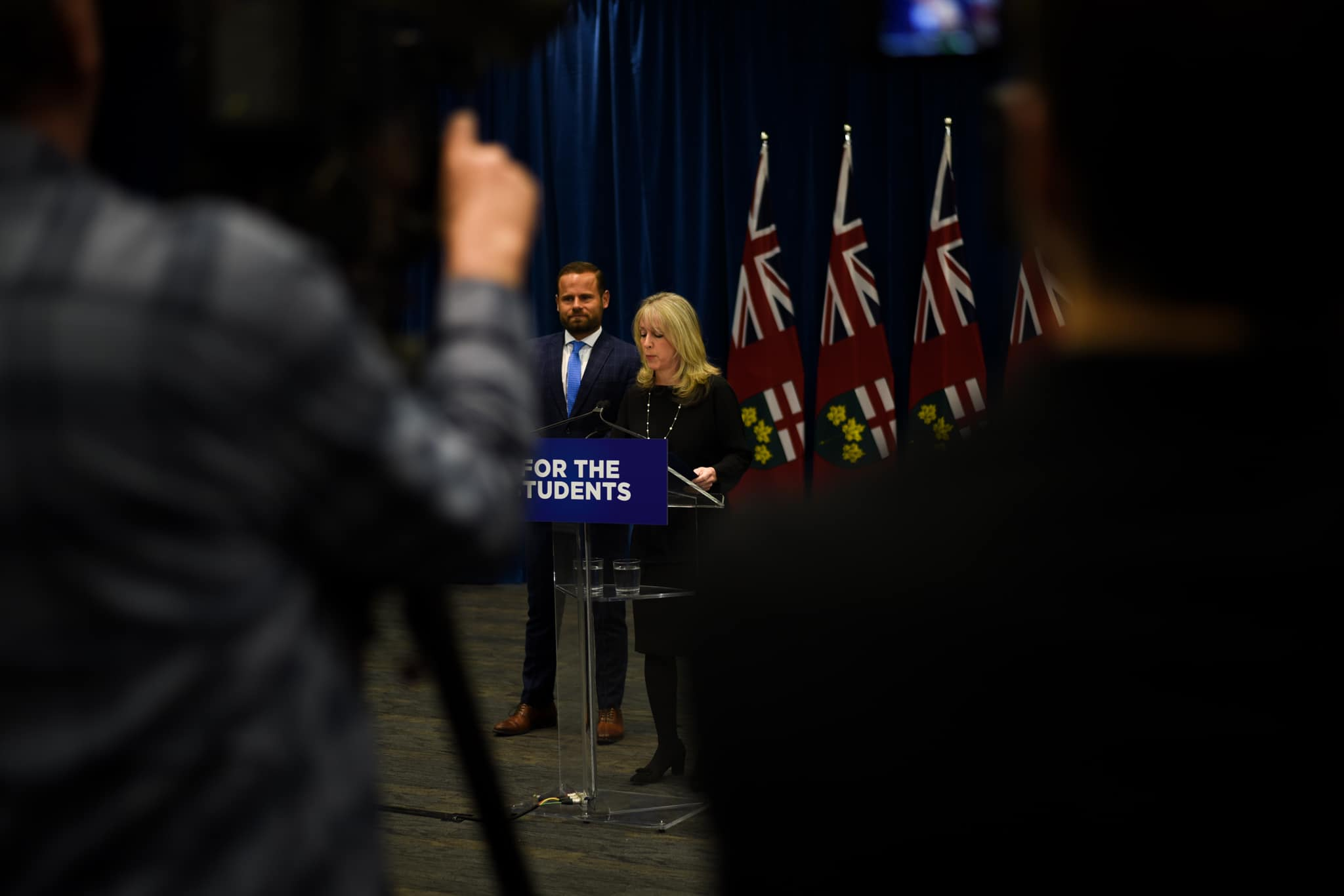 Minister Fullerton announces sweeping changes to post-secondary education. ANDY TAKAGI/THE VARSITY