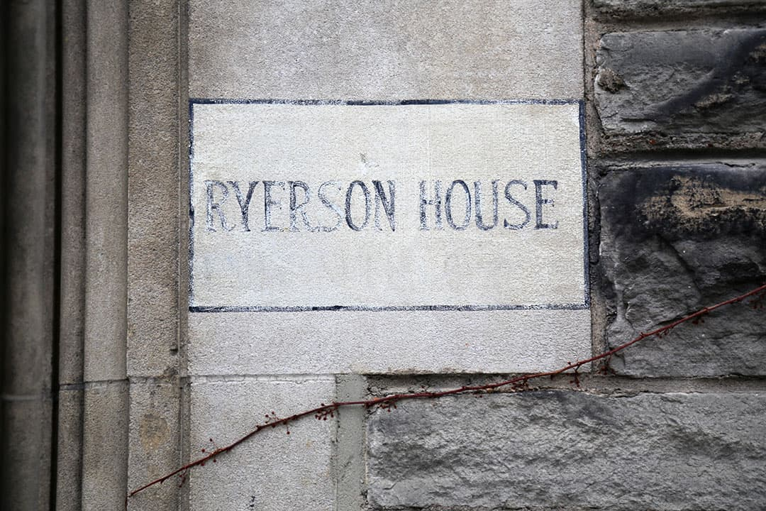 Ryerson House to be renamed as a part of VUSAC's proposal. SHANNA HUNTER/THE VARSITY