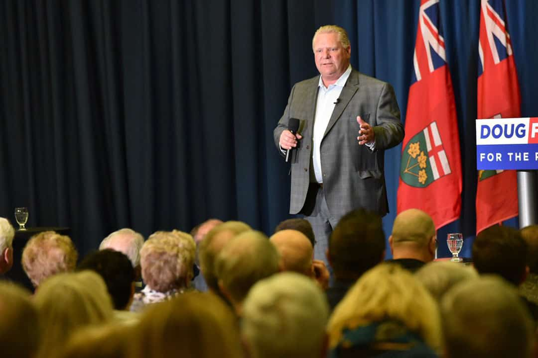 The Ford government held a roundtable with free speech clubs in August. DOUG FORD/CC FLICKR