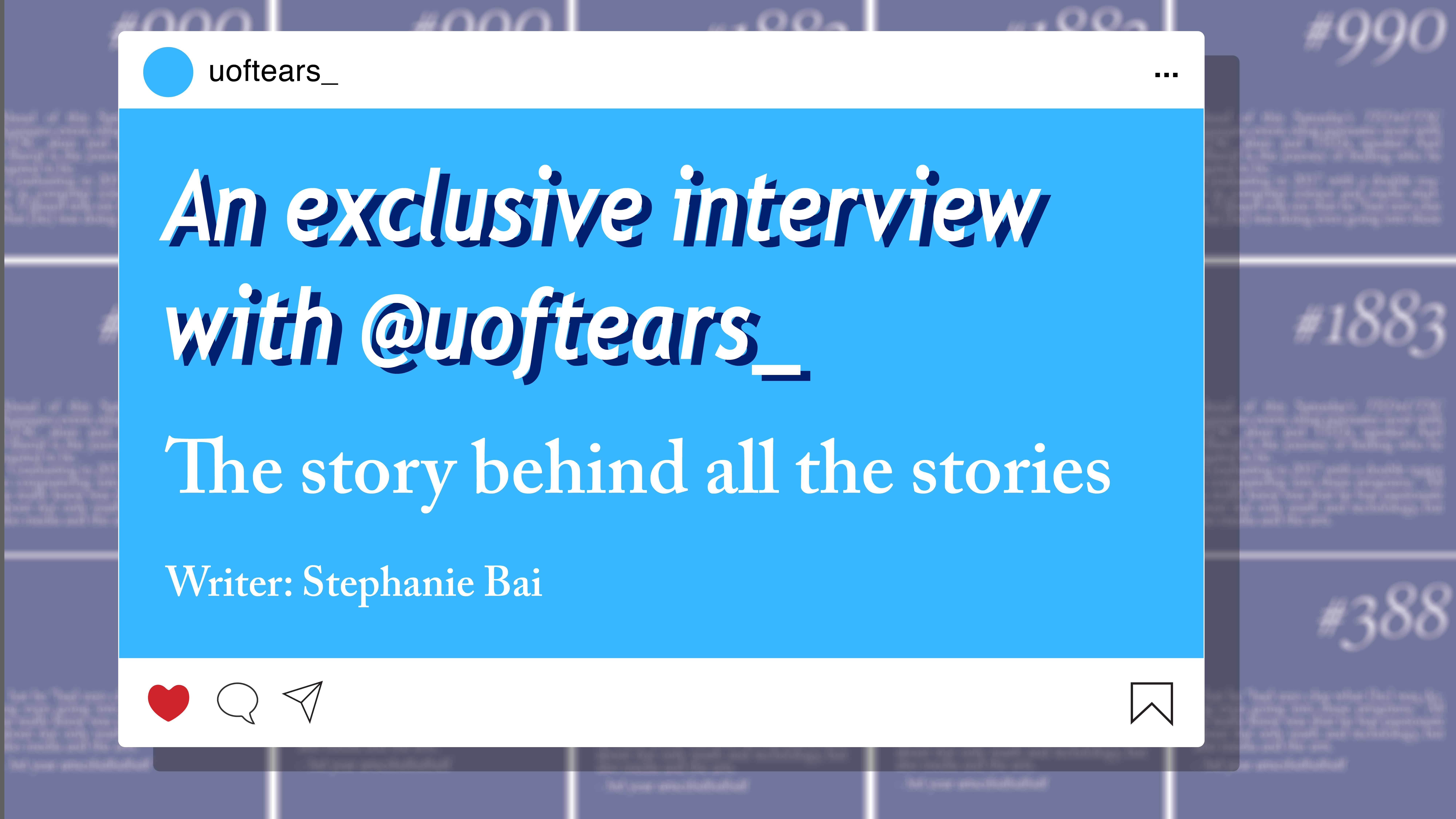 An exclusive interview with @uoftears_