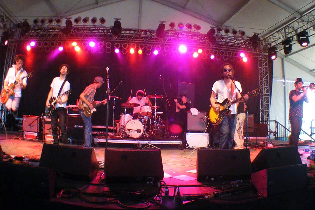 Broken Social Scene formed in 1999 and has had as many as 19 members and has five studio albums.  RYANKINDELAN/CC WIKIMEDIA