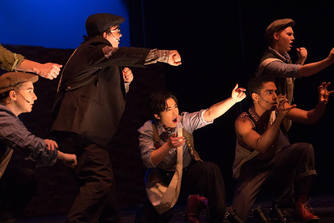 Newsies The Musical is inspired by the real-life Newsboys Strike in New York City in 1899. COURTESY OF MONIQUE TIMLICK