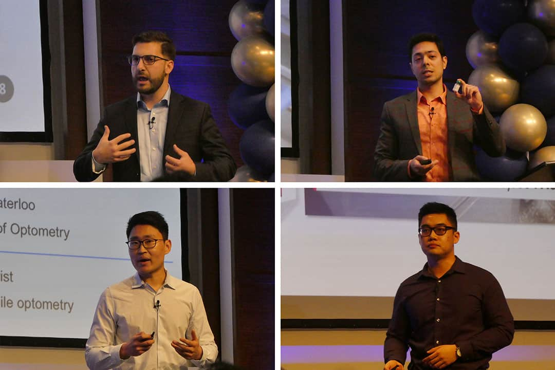 (Clockwise from top left) Michael Floros of Cohesys, Mohammad Ali Amini of Nanology Labs, Noah Yang of PureMark, and Alan Li of Sirona Onsite. MICHAEL TEOH/THE VARSITY