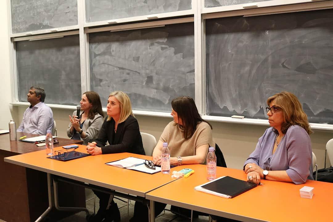 Ravin Balakrishnan, Michelle Craig, Melanie Woodin, Deborah Robinson, and Caroline Rabbatt. ADAM A. LAM/THE VARSITY