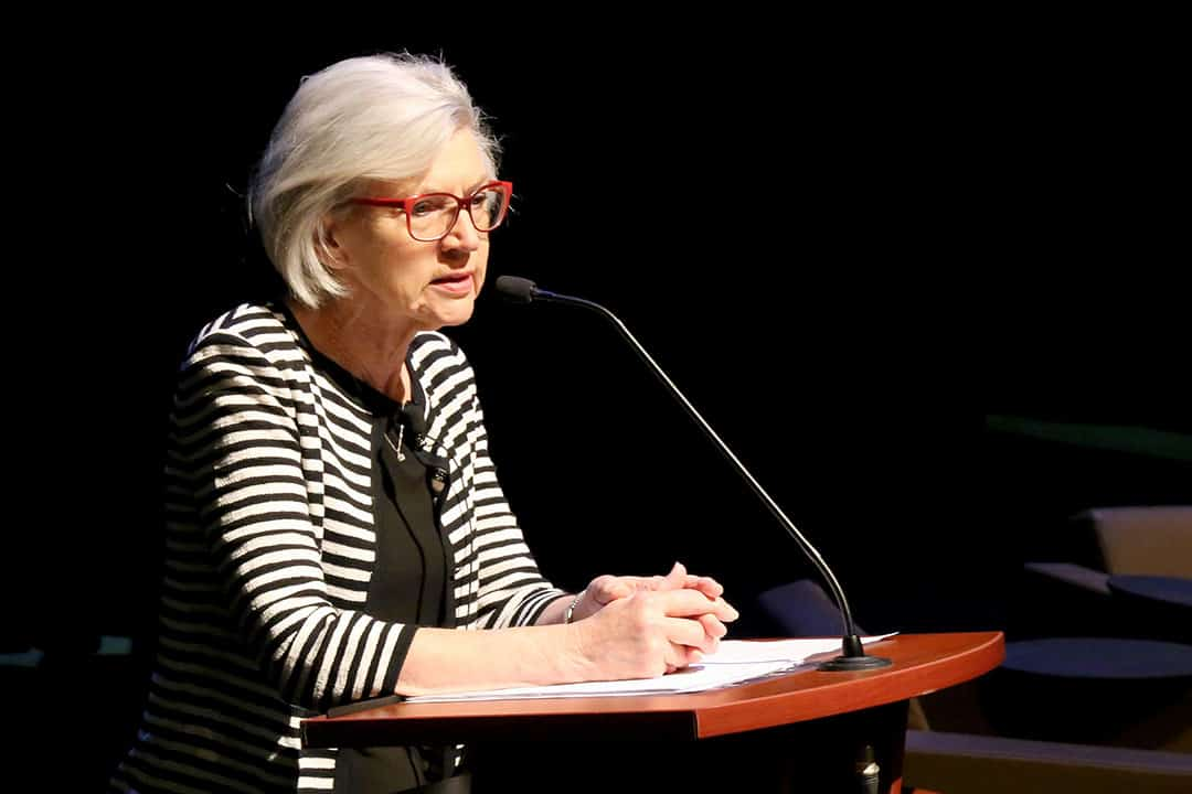 Beverley McLachlin spoke at Isabel Bader Theatre on her experience in law as a woman. SHANNA HUNTER/THE VARSITY
