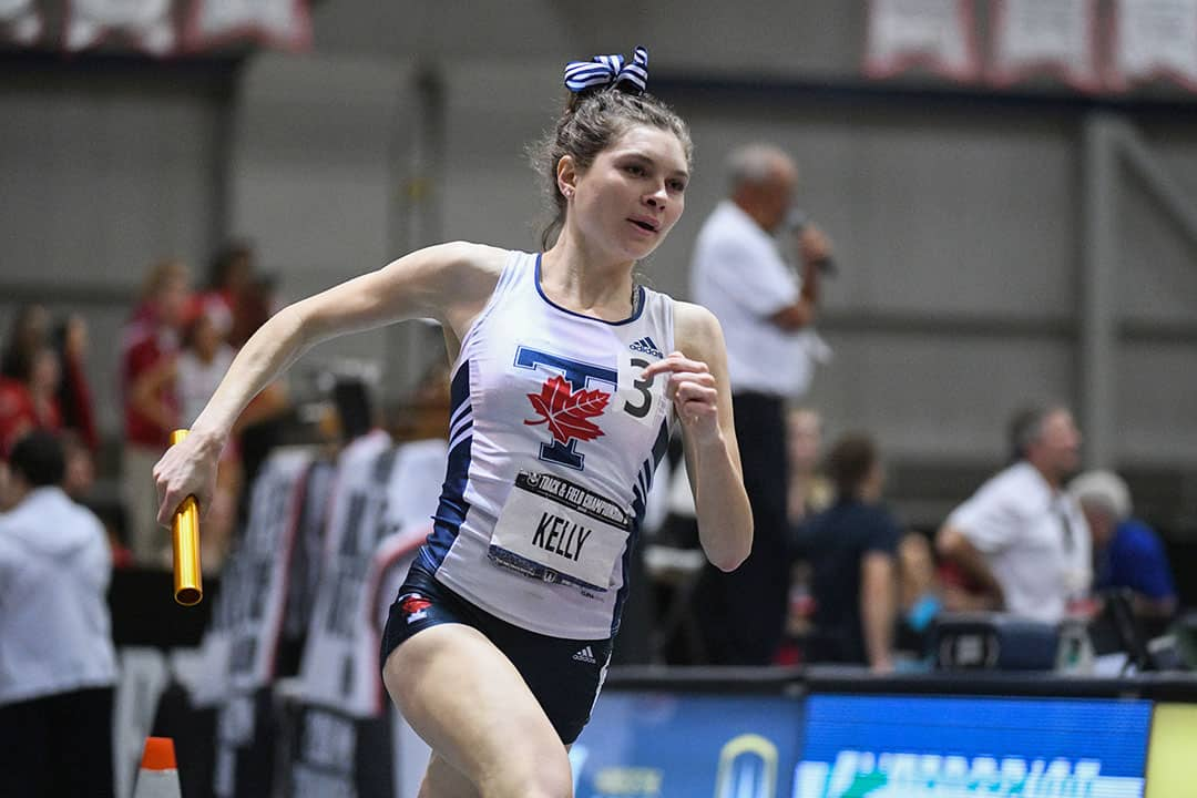 Kelly competed with the  Varsity Blues track team  from 2013–2018. PHOTO COURTESY OF MARTIN BAZYL/THE VARSITY BLUES