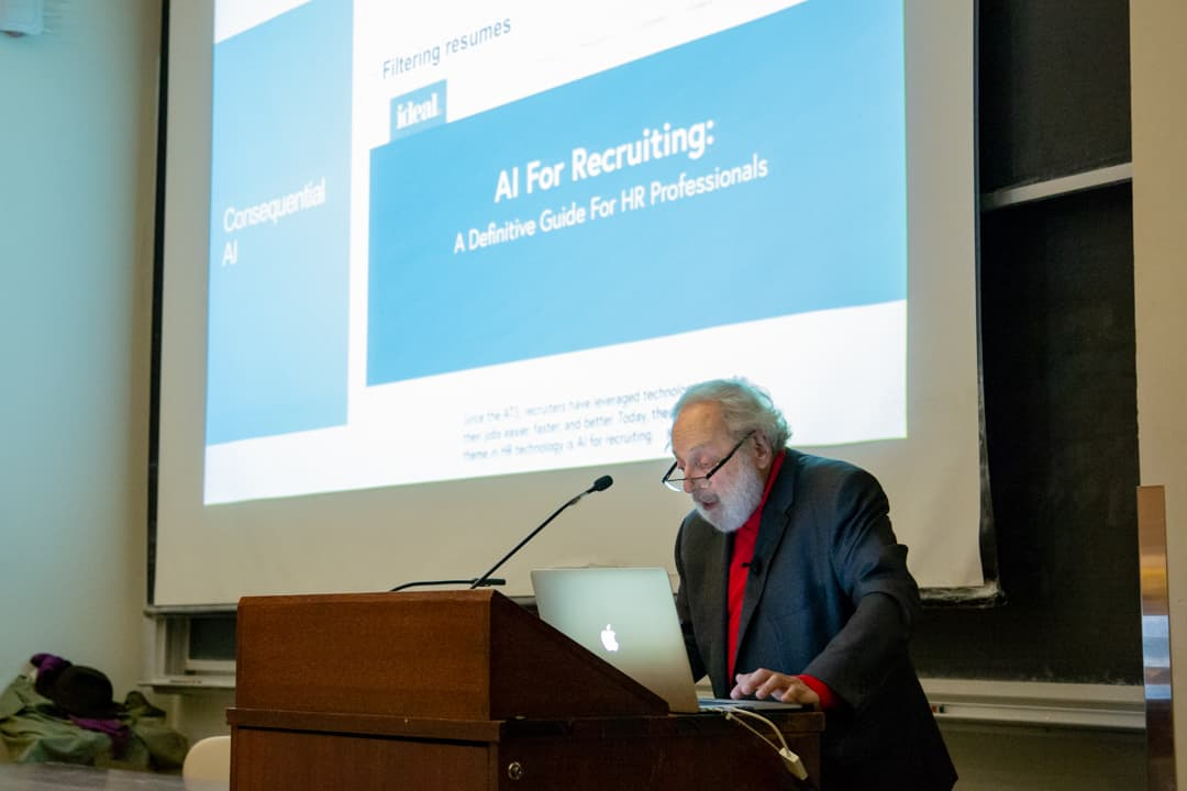 Emeritus Professor Ronald Baecker presented a lecture named What Society Must Require of AI.