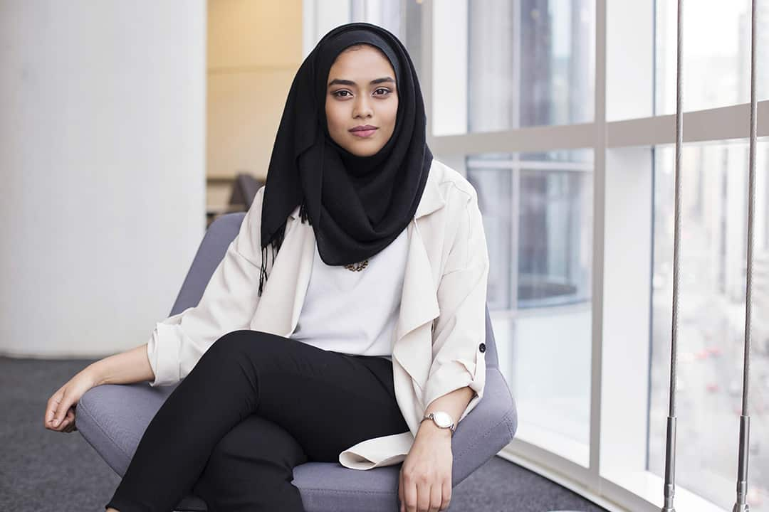 """Mehnaz Ahmed has been a Senior Peer Mentor in U of T's """"First in the Family"""" program. PHOTO COURTESY OF ALIA YOUSSEF"""