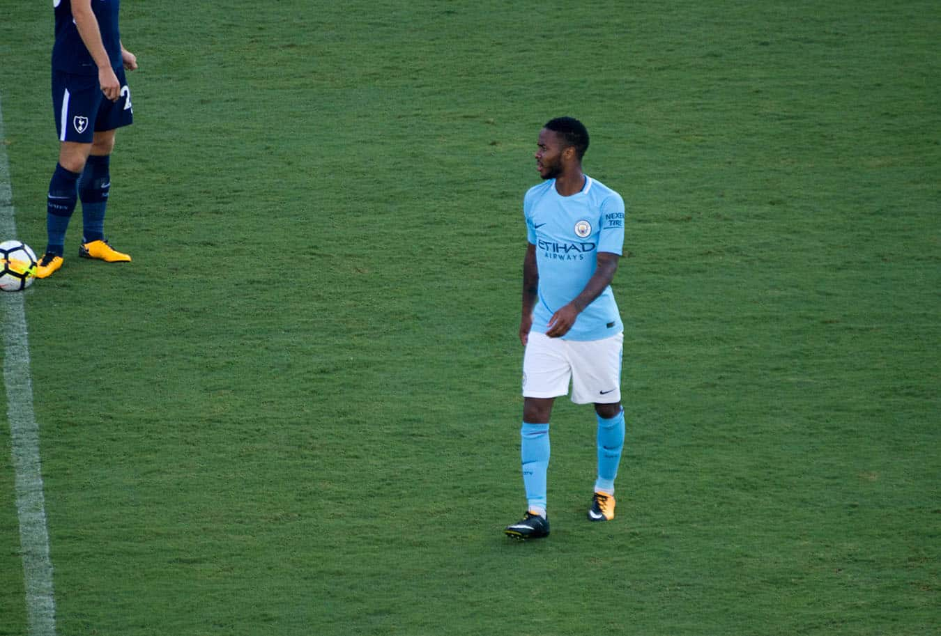 Raheem Sterling has been the victim of racist taunts on multiple occasions.  BRAD TUTTEROW/CC FLICKR