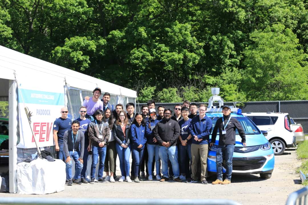 Undergraduate and graduate students from aUToronto won first place for their autonomous car Zeus. PHOTO COURTESY OF AUTORONTO