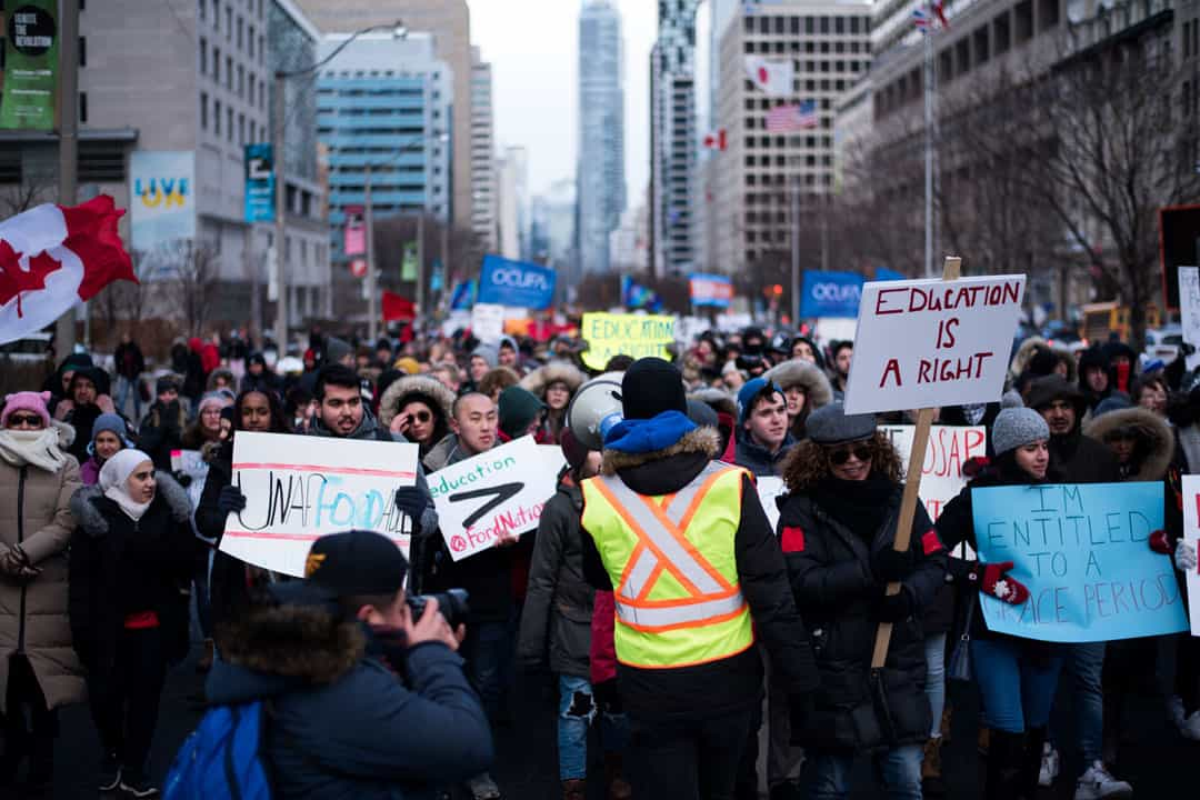 OCUFA has been active in protests against the Ford government's postsecondary education policies. ANDY TAKAGI/THE VARSITY