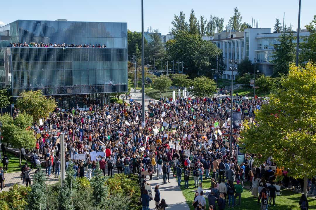 UBC students attend climate strike. courtesy of Zubair Hirji/THE UBYSSEY