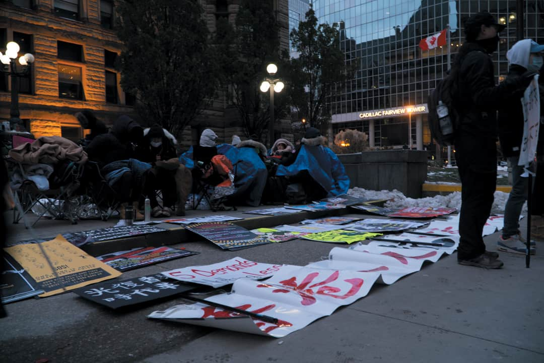 Students in Toronto have also been calling on Canada to support those in Hong Kong. SAMANTHA YAO/THE VARSITY