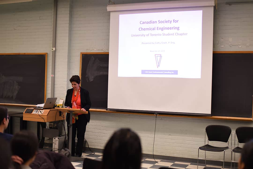 Grant shared advice to students drawn from her experience in environmental consulting. ADAM A. LAM/THE VARSITY