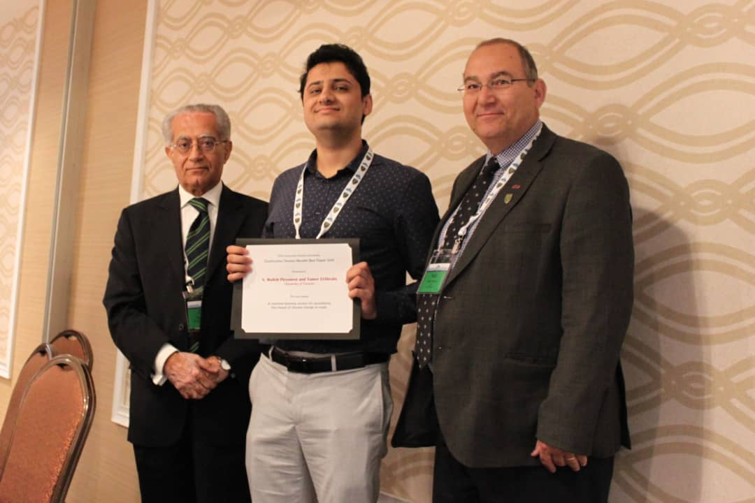 Piryonesi's paper on the climate crisis won the Moselhi Best Paper Award.  COURTESY OF MOHAMMAD AKBARZADEH AND SOBHAN KOUHESTANI