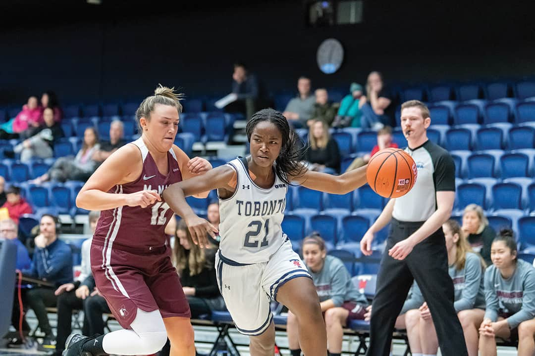 Women's basketball team upset defending national champions in a 76–66 decision