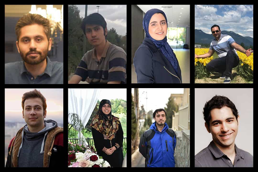 (Clockwise) Amin Jebelli/Facebook, Mohammad Amin Beiruti/LinkedIn, Zeynab Asadi Lari/Courtesy of UTM STEM Fellowship/Facebook, Mohammad Asadi Lari/Courtesy of UTM STEM Fellowship/Facebook, Mohammad Mahdi Elyasi/Facebook, Mohammad Saleheh/Courtesy of Seyed Hossein, Zahra Hasani/Courtesy of Seyed Hossein, and Mojtaba Abbasnezhad/Facebook.