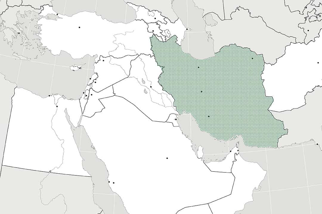 The No War With Iran movement has inspired protests across the globe.  COURTESY OF BYU GEOGRAPHY