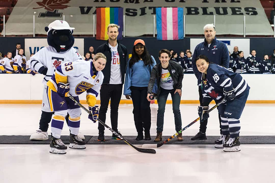 The women's hockey team lost in an upset to Laurier. COURTESY OF SEYRAN MAMMADOV/VARSITY BLUES