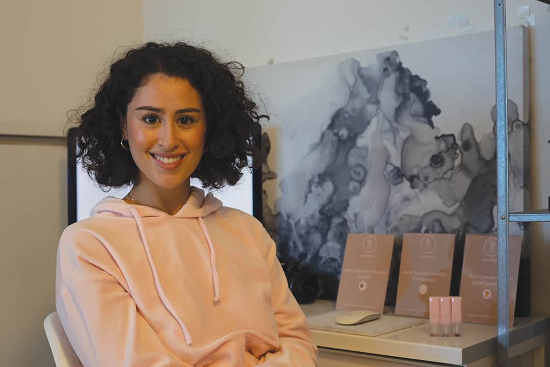 Corinne Haddad launched 1day beauty after completing U of T's e-Commerce and Online Business Management program in 2019.  HALEY SHEHTHE VARSITY