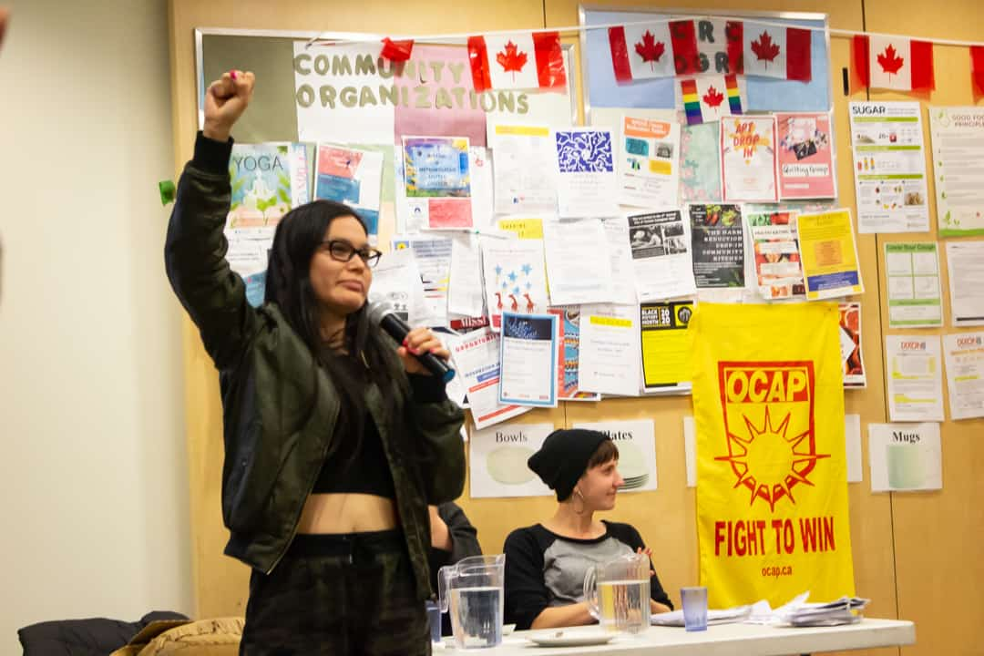 Eve Saint spoke about her experience being forcibly removed by the RCMP. VICTORIA LEE/THE VARSITY