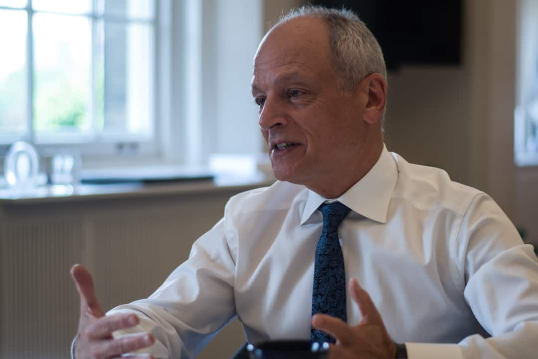 President Meric Gertler released a letter today about U of T's plan for the fall semester. ANDY TAKAGI/THE VARSITY