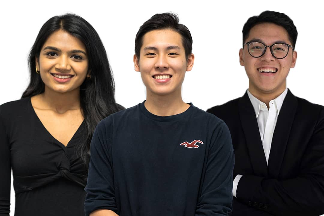From left to right: Kanitha Uthayakumar, Bruce Chan, TJ Ho. Photos courtesy of WENITED and VISION UTSC.