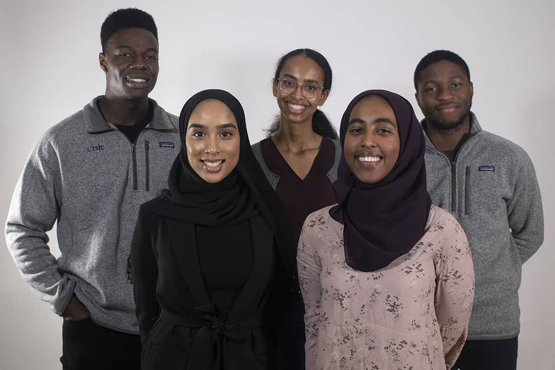 Jeffrey Fasegha, Zainab Hamid, Jasmine Ali, Ayesha Mohammed, and Judson Asiruwa. SRIVINDHYA KOLLURU/THE VARSITY