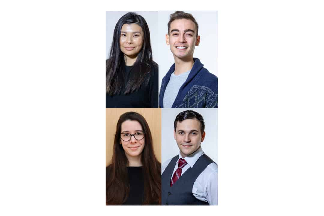 Top from left to right: June Li (DINA DONG/THE VARSITY); Jeffrey Lynham (DINA DONG/THE VARSITY)  Bottom from left to right: Mateja Petrovic (COURTESY OF MATEJA PETROVIC); Jesse Velay-Vitow (DINA DONG/THE VARSITY)