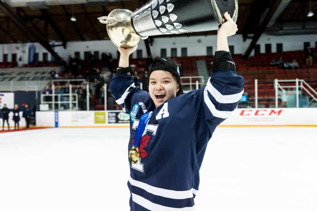 Cristine Chao helped her team win the McCaw Cup in her final game as a Varsity Blue. COURTESY OF SEYRAN MAMMADOV/ VARSITY BLUES