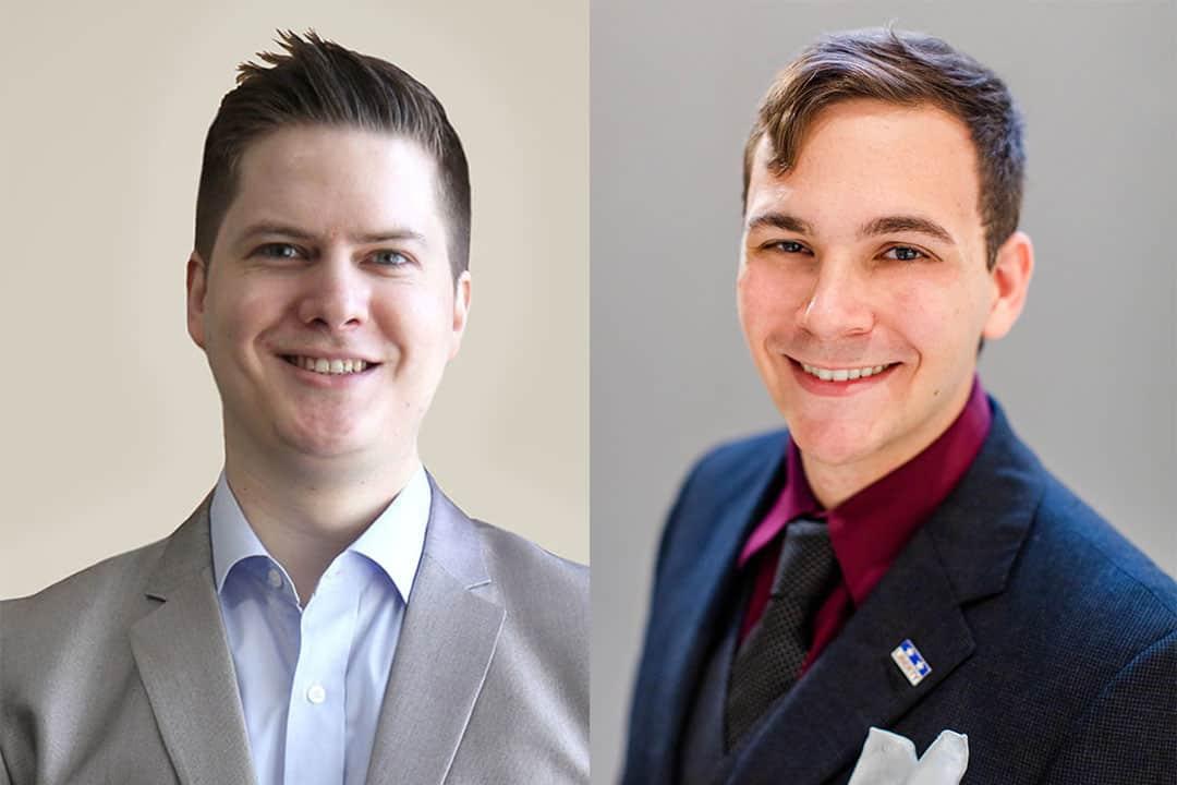 From left to right: Adam Hill and Jesse Velay-Vitow LEFT: SHANNA HUNTER/THE VARSITY RIGHT: COURTESY OF THE MERCATUS CENTER