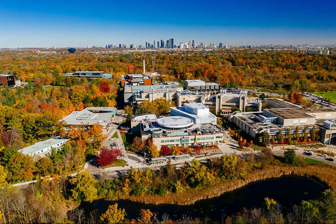 An aerial photo of the UTM campus. COURTESY OF UNIVERSITY OF TORONTO